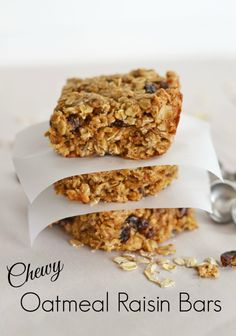Chewy Oatmeal Raisin Bars Recipe & This Week's Shaw's #MyMixx Savings! #ad