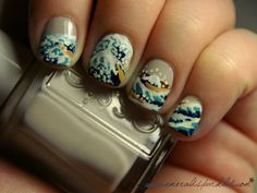 the great wave nails - awesome!
