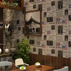 33.79$  Buy now - http://alii8c.shopchina.info/go.php?t=32251994887 - beibehang Vintage News Papers Cars Brown Vinyl Wallpaper roll papel de parede para sala wallpaper papel parede papel contact 33.79$ #magazineonlinebeautiful