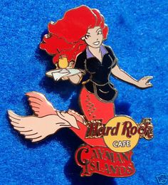 Hard Rock Mermaid Pin Cayman Islands Server