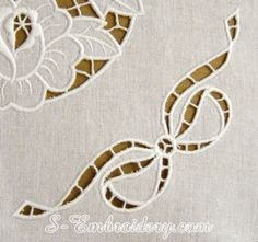 10473 cutwork lace bow machine embroidery