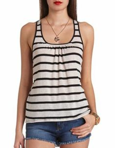 striped bow-topped tank top from Charlotte Russe
