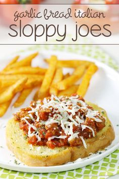 Put an Italian spin on the classic sloppy joe sandwich with this easy Garlic Bread Italian Sloppy Joes recipe! Your family will love this easy dinner idea! #MyTuscanTable #ad