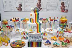 Festa infantil com tema aula de artes