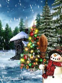 Download Animated 240x320 «Новогодняя сказка» Cell Phone Wallpaper. Category: Holidays