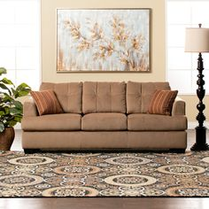 Add style and convenience to your home with the Jack queen size sofa sleeper. This beautiful sofa combines classic style with Jerome's Dream Seating technology making it a sitting and sleeping experience like no other. No one will guess that this comfortable sofa is actually hiding a sleeper insi...