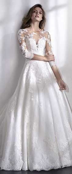 Fantastic Tulle Bateau Neckline A-line Wedding Dress With Lace Appliques