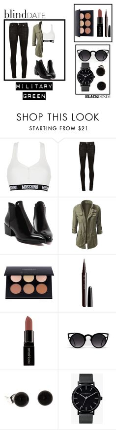 """""""Military Day"""" by tanyalzx ❤ liked on Polyvore featuring Moschino, Alyx, Anastasia Beverly Hills, Marc Jacobs, Smashbox, The Horse, StreetStyle, black and StreetChic"""