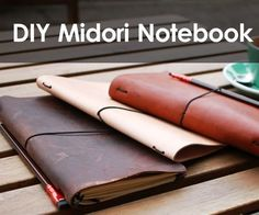 DIY Midori Style Traveler's Notebook : 10 Steps (with Pictures) - Instructables Notebook Diy, Handmade Notebook, Handmade Journals, Handmade Books, Notebook Covers, Journal Covers, Handmade Rugs, Handmade Crafts, Leather Book Covers
