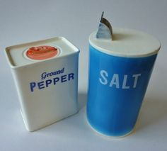 Vintage SALT And PEPPER Shaker Set- Betty St John for SHAFFORD- Made in Japan on Etsy, $14.00