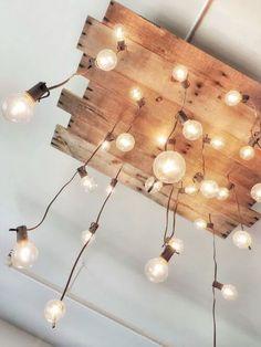 Industrial lighting, hanging lights DIY lighting... i love this