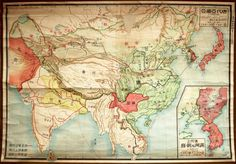 Japanese map of Asia in 1929 #asia #japan #map