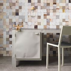 PHE-16 Scrapwood Wallpaper. Piet Hein Eek for NLXL.  Three years after the launch of the original Scrapwood Wallpaper collection NLXL is proud to introduce a renewed collaboration with designer Piet Hein Eek to create 'Scrapwood Wallpaper 2'. The new collection consists of 8 designs and is based on the 'waste' furniture collection by Piet Hein Eek.