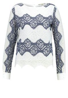 Patrizia Pepe Bluse white/blue Premium bei Zalando.de | Material Oberstoff: 68% Polyester, 32% Baumwolle | Premium jetzt versandkostenfrei bei Zalando.de bestellen!