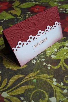 Svatební jmenovky - královská krajka jmenovka je 10x8cm velká, je z kvalitní…