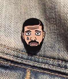 Drake Tears Enamel Lapel Pin Soft Enamel Hotline Bling ROUND 2