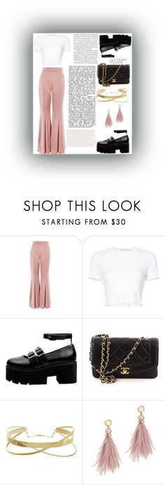 """""""Something New"""" by grace-alexandria ❤ liked on Polyvore featuring Topshop, Rosetta Getty, Chanel and Lizzie Fortunato"""