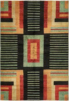 Black 5' 5 x 8' Modern Ziegler Oriental Rug   Oriental Rugs   eSaleRugs