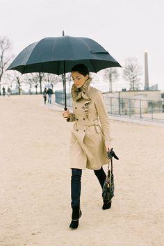 A fancy trench makes rain gear more fun.     –Vanessa Jackman: Homage to the Umbrella