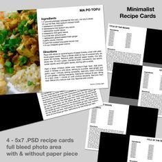 recipe cards templates