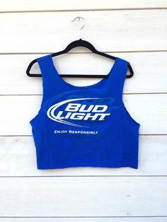 Bud Light Beer crop tank by Closet Creep on Etsy