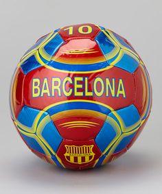 Burgundy & Blue Barcelona Soccer Ball