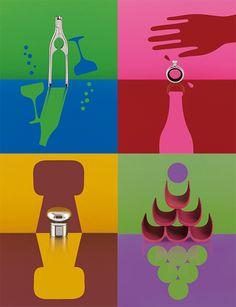 'noè' wine accessories by giulio iacchetti for alessi