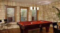 stone billiard room