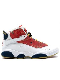 d0dfa8db60d The Air Jordan 6 Rings Championship Pack White Red Wheat Navy 2008 was one  of several other Jordan 6 Rings releases that pay tribute to Jordan s two 3  Peats