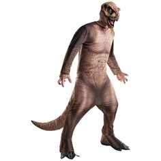 Jurassic World T-Rex costumes for adults and kids. For classic costume lovers. Latest Jurassic World Costumes Revealed - Fancy Costume Madness T Rex Halloween Costume, T Rex Costume, Dinosaur Costume, Adult Halloween, Halloween Ideas, Halloween Decorations, Pirate Halloween, Trendy Halloween, Jurassic World T-rex