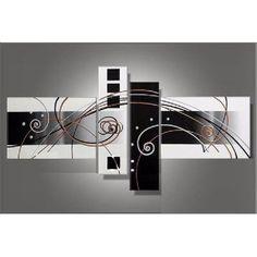 Cuadros Moderno Tripticos Polipticos Florales Abstractos - $ 695,00 en MercadoLibre