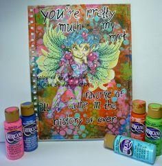 Mixed media winged fairy. #decoartprojects