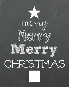 Merry Christmas chalkboard printable - Organize and Decorate Everything Merry Christmas Printable, Christmas Chalkboard, Free Christmas Printables, Merry Christmas And Happy New Year, Free Printables, Merry Chistmas, Pretty Christmas Trees, Christmas Balls, Winter Christmas