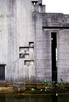Exterior detail of Carlo Scarpa's Cimitero Brion, San Vito di Altivole (1970/75).  Photo by superfici_di_architettura, via Flickr