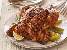 Rosemary-Lemon Roast Chicken : Ree's scrumptious Rosemary-Lemon Roast Chicken makes any occasion special.