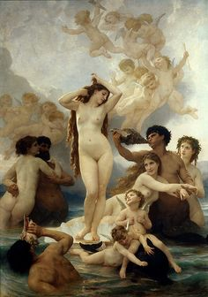 Naissance de Venus William Adolphe Bouguereau art for sale at Toperfect gallery. Buy the Naissance de Venus William Adolphe Bouguereau oil painting in Factory Price. All Paintings are Satisfaction Guaranteed William Adolphe Bouguereau, The Birth Of Venus, Illustration Art, Illustrations, Photocollage, Pre Raphaelite, Oil Painting Reproductions, Arte Pop, Les Oeuvres