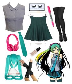 """Hatsune Miku"" by falloutbananaa ❤ liked on Polyvore featuring WithChic, Chanel, Commando, Coshome, Beats by Dr. Dre, Givenchy and Sharpie"