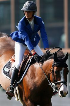 Penelope Leprevost Photos Photos - Penelope Leprevost of France riding Ratina d'la Rousserie competes in the Class 01, CSI5* 1.45m Two Phases: A + A, against the clock during the Longines Global Champions Tour held at Stal Tops on August 13, 2015 in Valkenswaard, Netherlands. - Longines Global Champions Tour - Valkenswaard