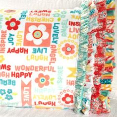 Shannon Fabrics Fabric Used: Crazy for Daisies by ADORNit Download the free pattern here: http://www.allpeoplequilt.com/millionpillowcases/freepatterns/Pillowcase-36.pdf