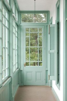 Interior and exterior in mint green - pastel color of the year Mint Green Aesthetic, Aesthetic Colors, Green Theme, Green Colors, Colours, Mint Color, Mint Green Wallpaper, Mint Green Walls, Green Pictures