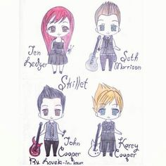 Skillet<<<THEY LOOK SO ADORABLE!!!