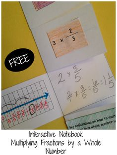 Interactive Notebook to help students understand what they are doing when they multiply a whole number by a fraction.