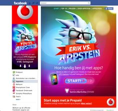 Appstein - a game built for Vodafone, hosted on Hyves and Facebook