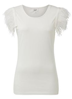 Womens Collection Tops Tees & Tanks| Collection Feather Sleeve Tee | Seed Heritage