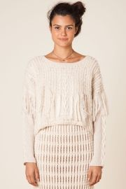 tricot franja com bordado