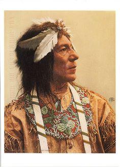 UNITED STATES - The Ojibwe (Chippewa) people - Obtossaway, an Ojibwe Chief, 1903