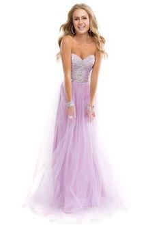 Elegant lavender dress.