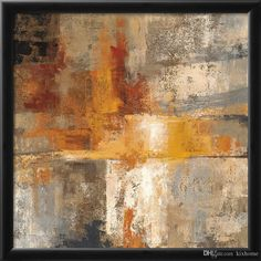 "Amanti Art N/A Inch x Inch ""Silver and Amber Crop"" Framed Art Print on Paper by Silvia Vassileva Canvas Artwork, Canvas Frame, Canvas Art Prints, Painting Prints, Big Canvas, Canvas Size, Painting Canvas, Diy Painting, Framed Wall Art"