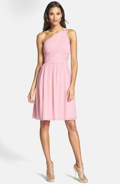 This is the one!!!! -DT (Donna Morgan 'Rhea' One-Shoulder Chiffon Dress available at #Nordstrom)