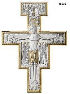 Srebrny Krzyż Św.Damiana, stanowi doskonały prezent z okazji jubileuszu. #rocznica #komunia #bierzmowanie